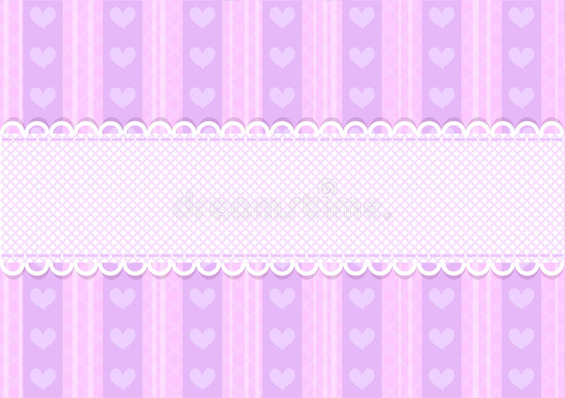 Fundo bonito cor-de-rosa e roxo do vetor do coração ilustração do vetor
