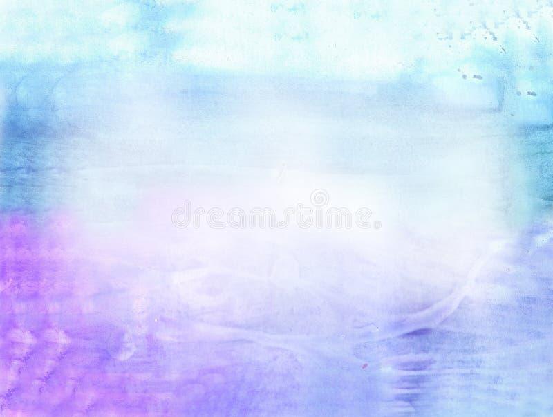 Fundo bonito da aguarela brandamente no azul ilustração do vetor