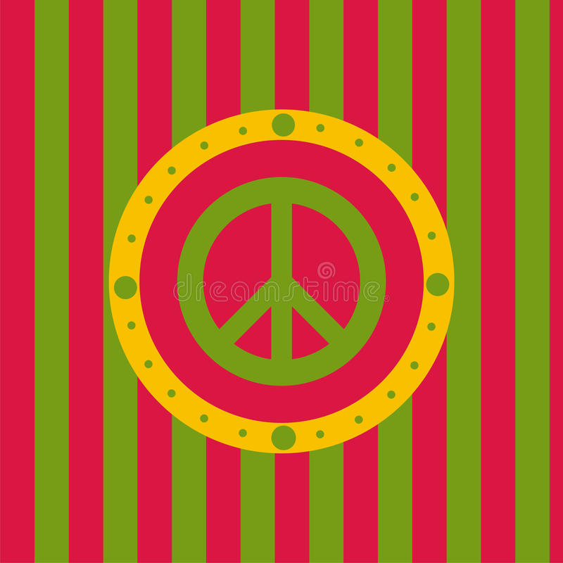 Fundo bonito da paz ilustração stock