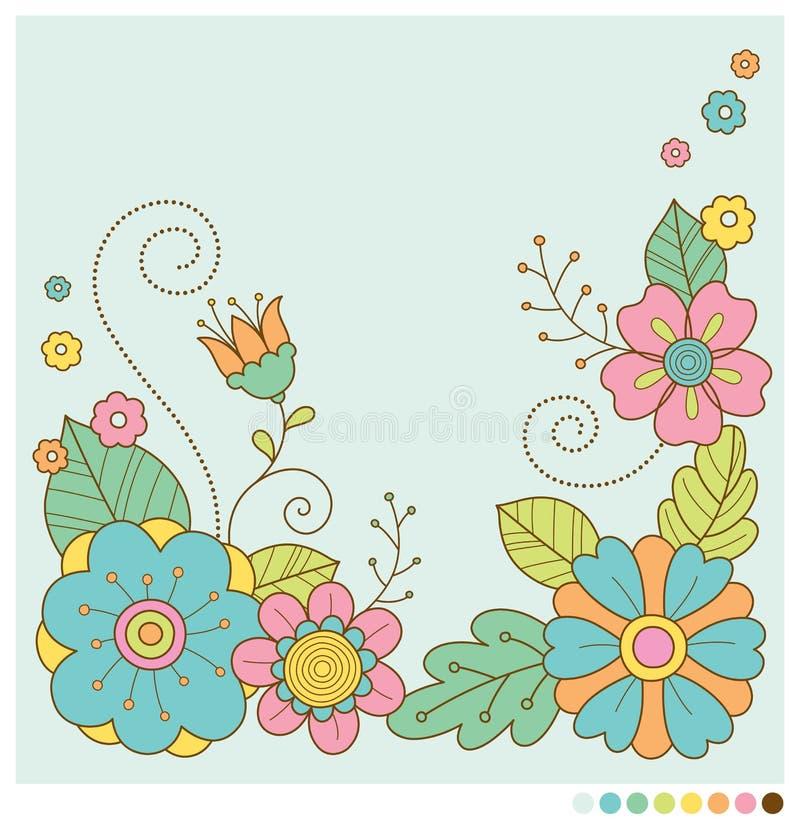 Fundo bonito das flores da mola pastel ilustração do vetor