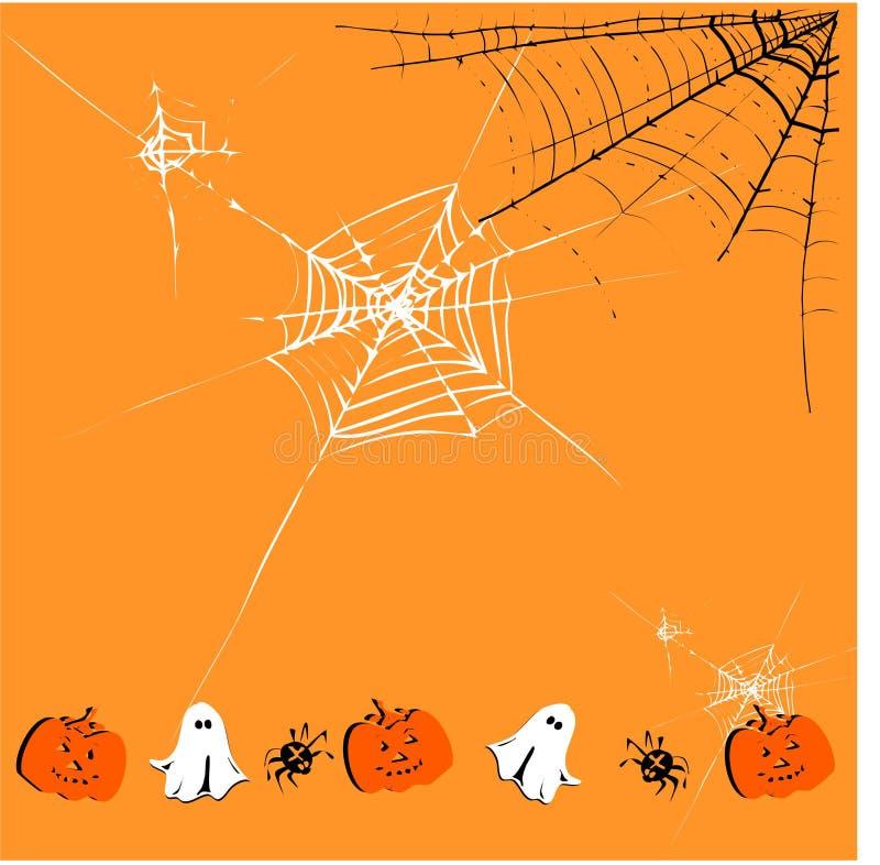 Fundo bonito de Halloween ilustração do vetor