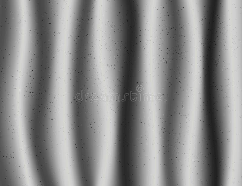Fundo bonito de matéria têxtil de Grey Drapery Silk ilustração stock