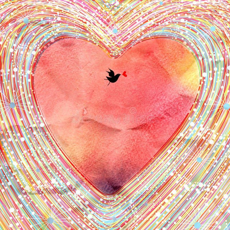 Fundo bonito do coração ilustração royalty free