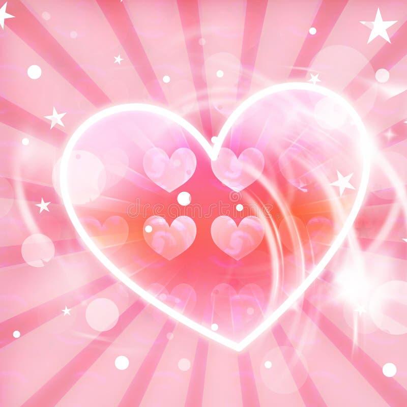 Fundo bonito do coração ilustração stock
