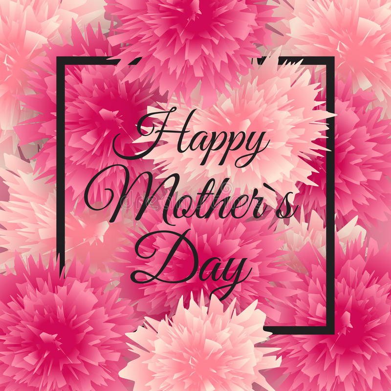 Fundo bonito do dia feliz da mãe s com flores Ilustração do vetor ilustração stock