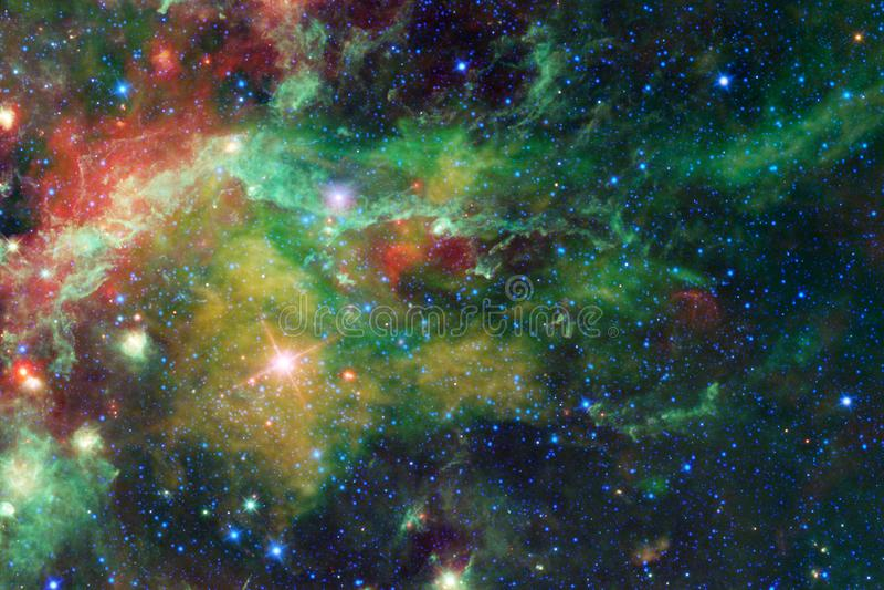 Fundo bonito do espaço Arte de Cosmoc Elementos desta imagem fornecidos pela NASA ilustração royalty free