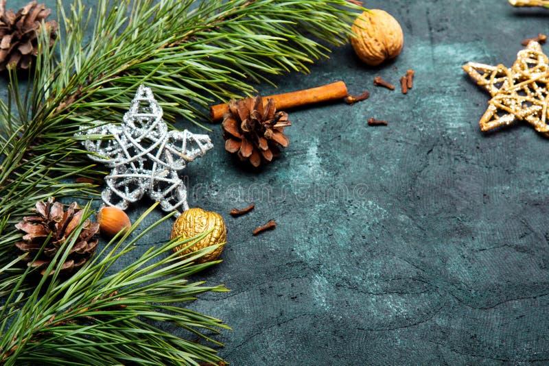 Fundo bonito do Natal com espa?o da c?pia para seu texto imagens de stock