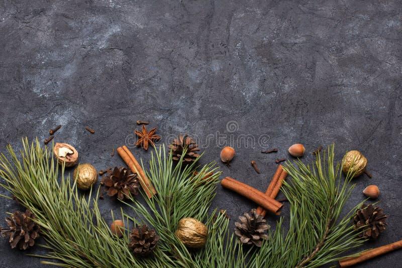 Fundo bonito do Natal com espa?o da c?pia para seu texto fotografia de stock