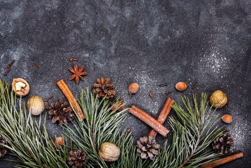 Fundo bonito do Natal com espa?o da c?pia para seu texto imagem de stock royalty free
