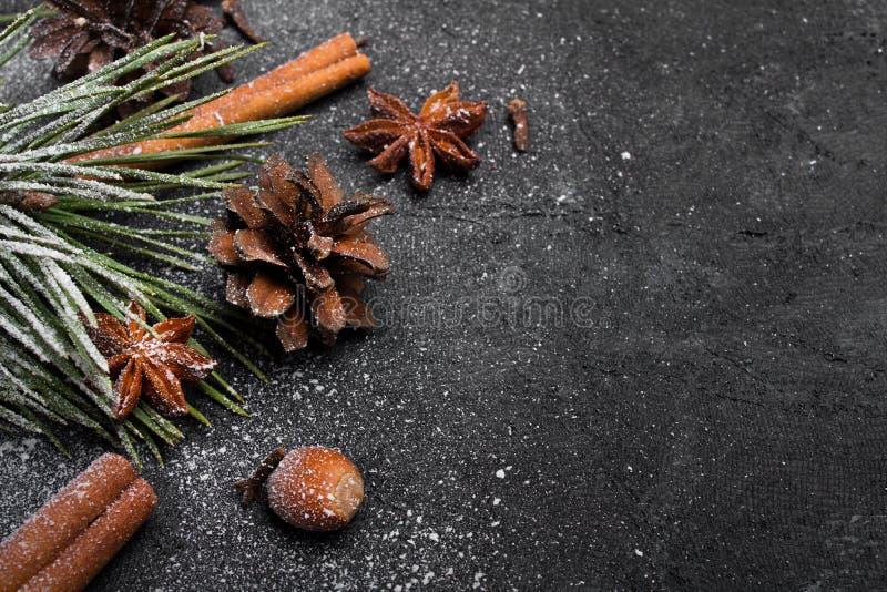 Fundo bonito do Natal com espa?o da c?pia para seu texto foto de stock royalty free