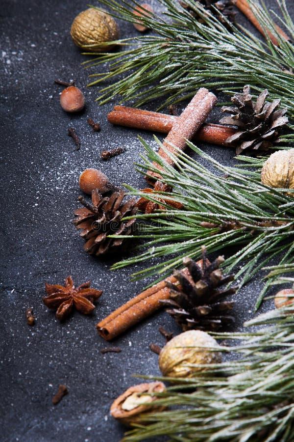 Fundo bonito do Natal com espa?o da c?pia para seu texto imagem de stock