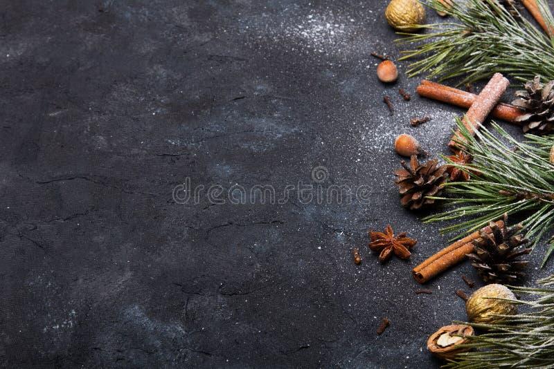 Fundo bonito do Natal com espa?o da c?pia para seu texto fotografia de stock royalty free