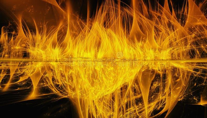Fundo bonito do ouro da incandescência espiral com profundidade de campo e de bokeh 3d a ilustração, 3d rende fotografia de stock royalty free