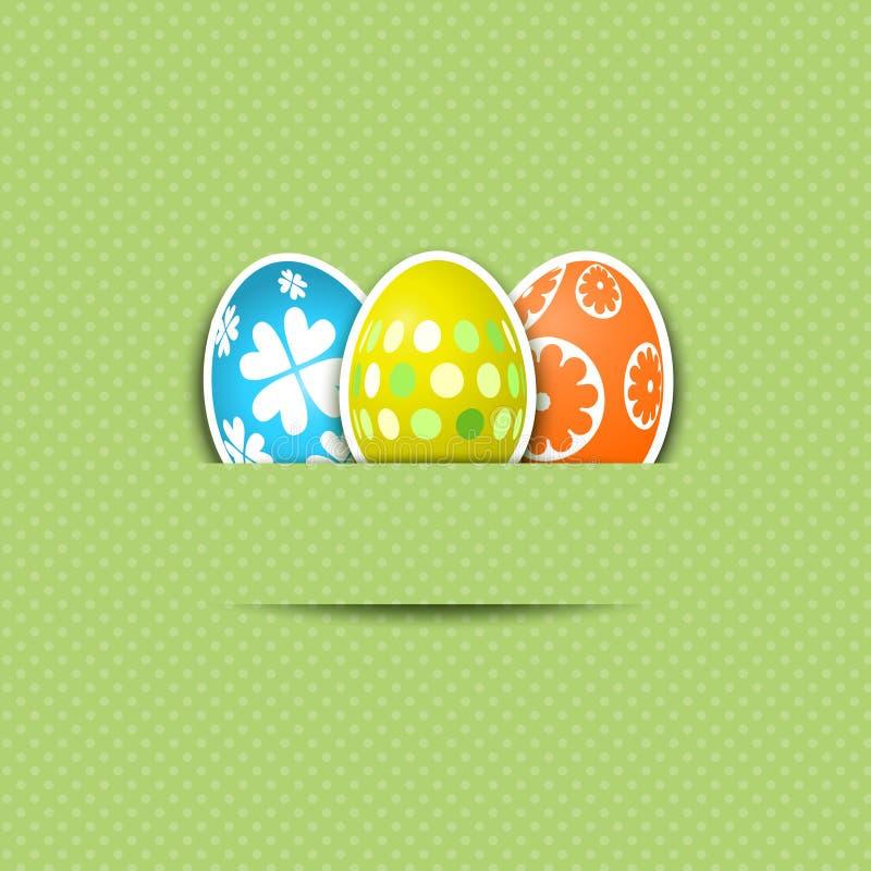 Fundo bonito do ovo de Easter ilustração stock