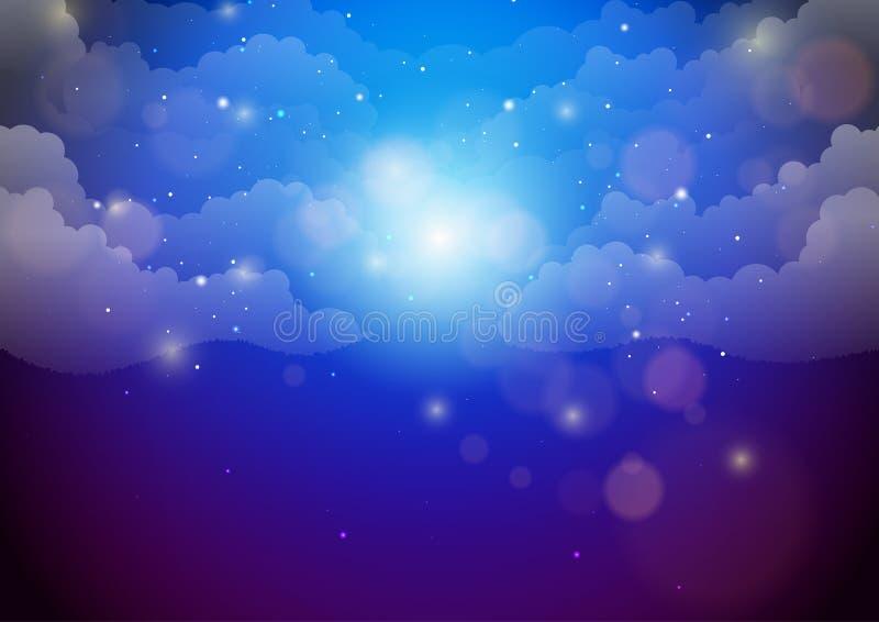 Fundo bonito do sumário do céu noturno ilustração do vetor