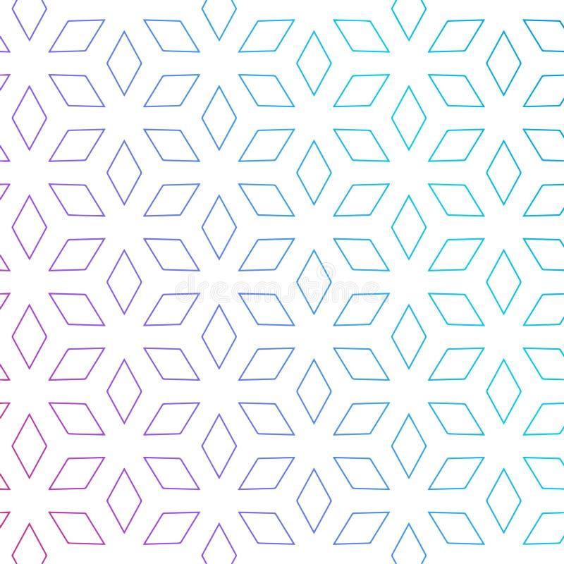 Fundo bonito do teste padrão da forma do rombo Backgroun mínimo do teste padrão ilustração do vetor