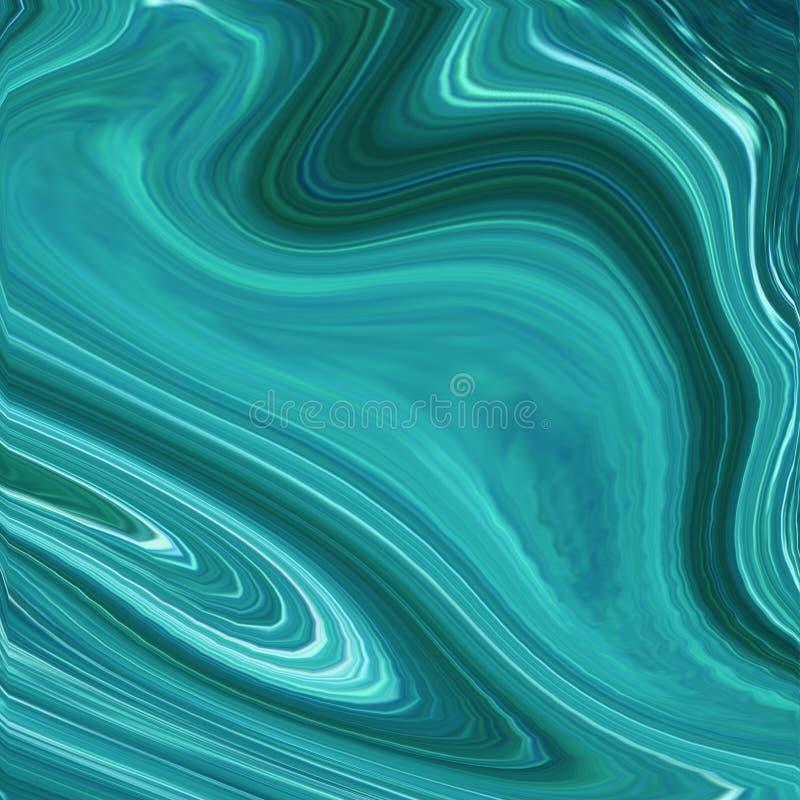 Fundo bonito nas cores dos azul-céu feitas com pintura de óleo ilustração stock