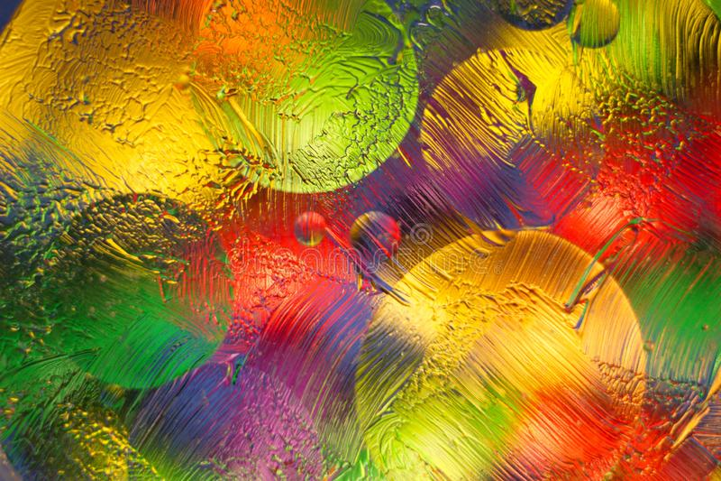 Fundo borrado abstrato com vidro e pomada fotografia de stock