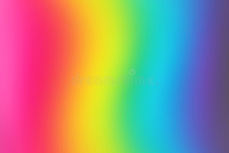 Fundo borrado abstrato do arco-íris Papel de parede colorido Cores brilhantes ilustração royalty free