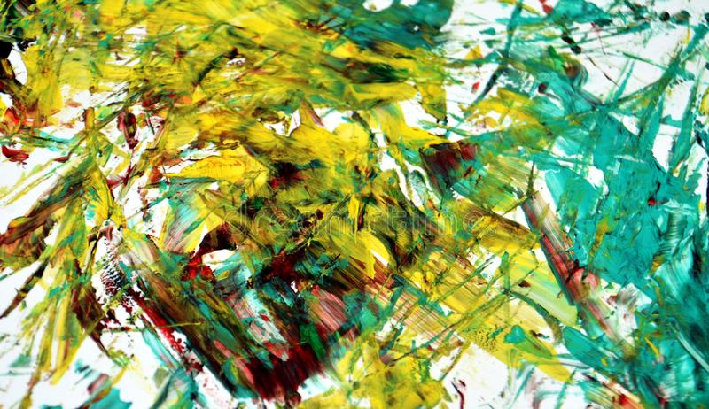 Fundo borrado branco amarelo da aquarela da pintura do ouro verde, fundo de pintura abstrato da aquarela fotos de stock royalty free