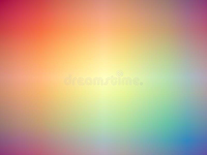 Fundo borrado colorido arco-íris ilustração do vetor