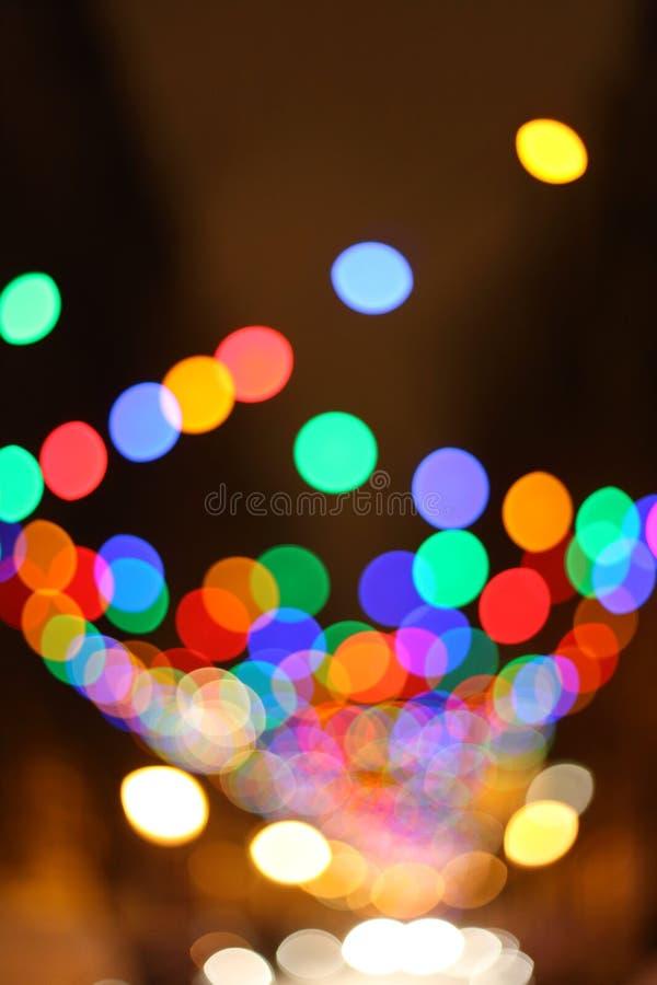 Fundo borrado das luzes de Natal fotos de stock