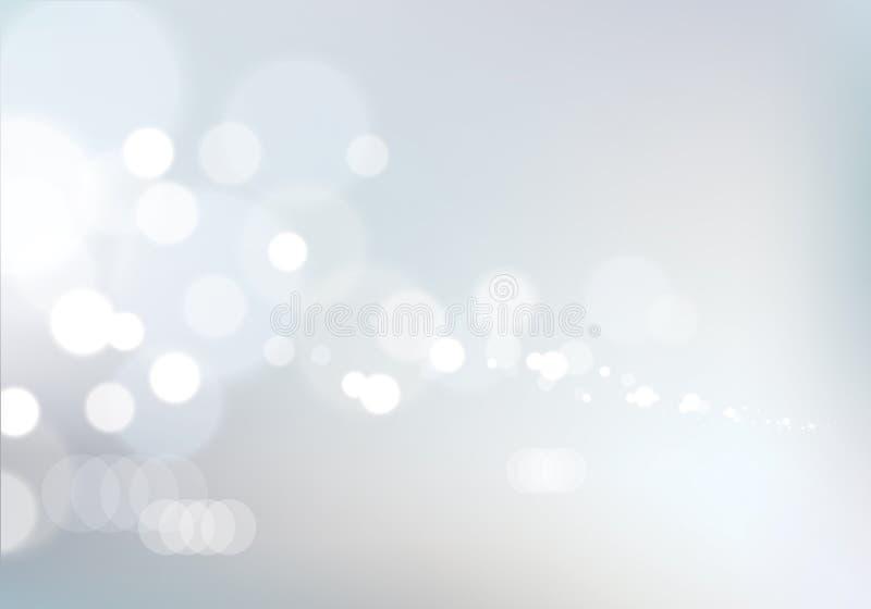 Fundo borrado das luzes Textura do efeito de Bokeh Vecto bonito ilustração stock