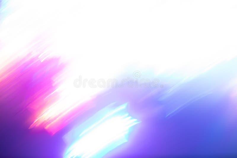 Fundo borrado de branco-cor-de-rosa-roxo-turquesa de luzes de néon brilhantes de cores na moda fotografia de stock royalty free