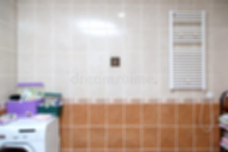 Fundo borrado do banheiro fotografia de stock