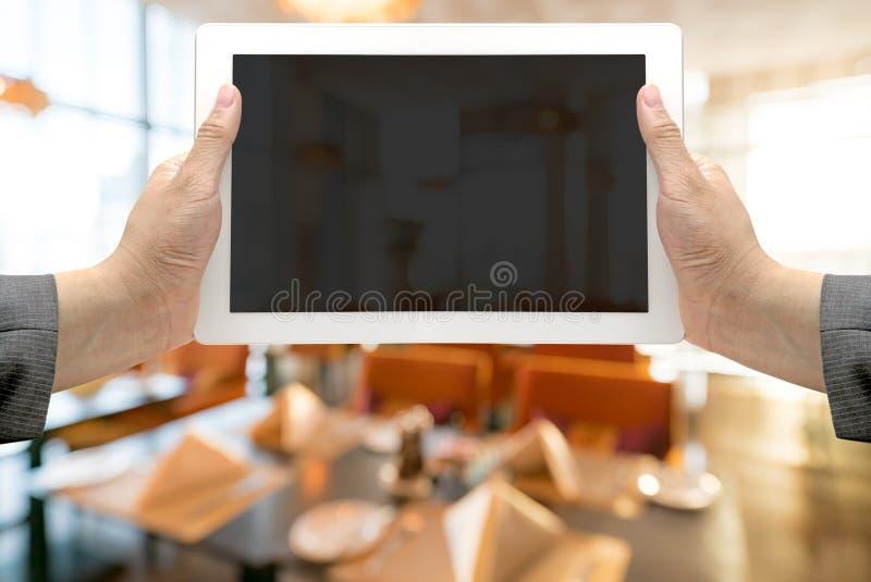 Fundo borrado do restaurante fotografia de stock