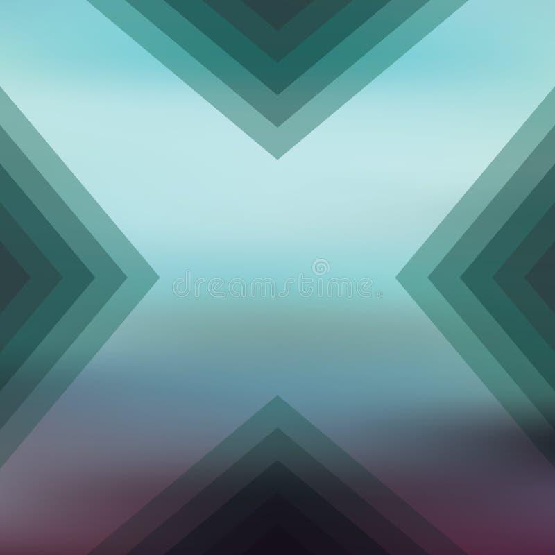 Fundo borrado sumário com formas geométricas ilustração stock