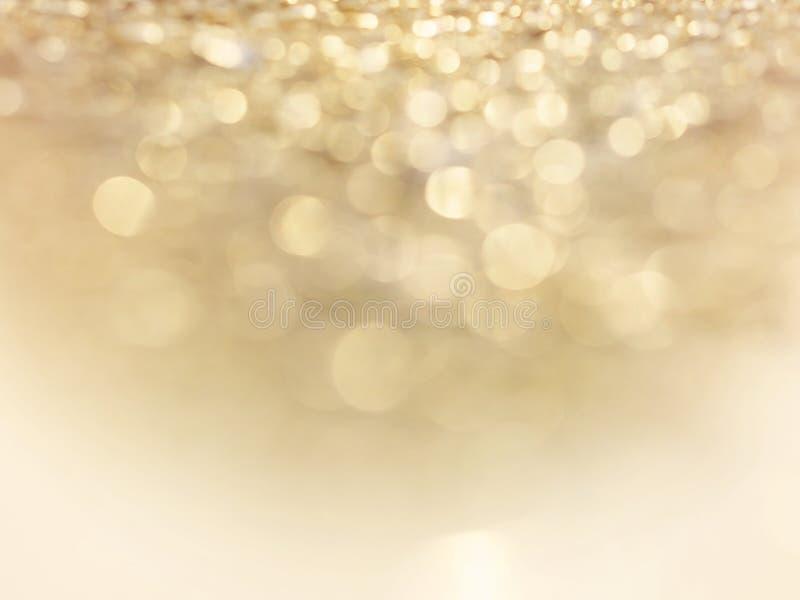 Fundo borrado sum?rio do ouro fotografia de stock