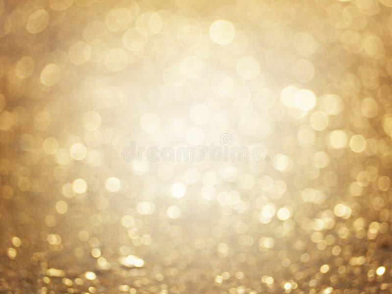 Fundo borrado sum?rio do ouro fotografia de stock royalty free