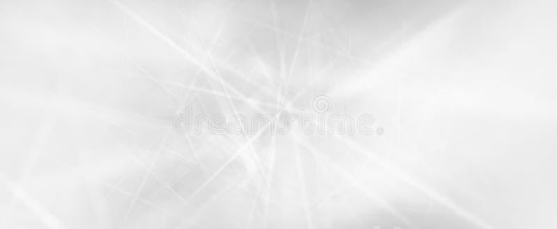 Fundo branco abstrato com listras do raio laser ou linhas de comunicação digital no projeto de conceito da tecnologia Feixes borr foto de stock