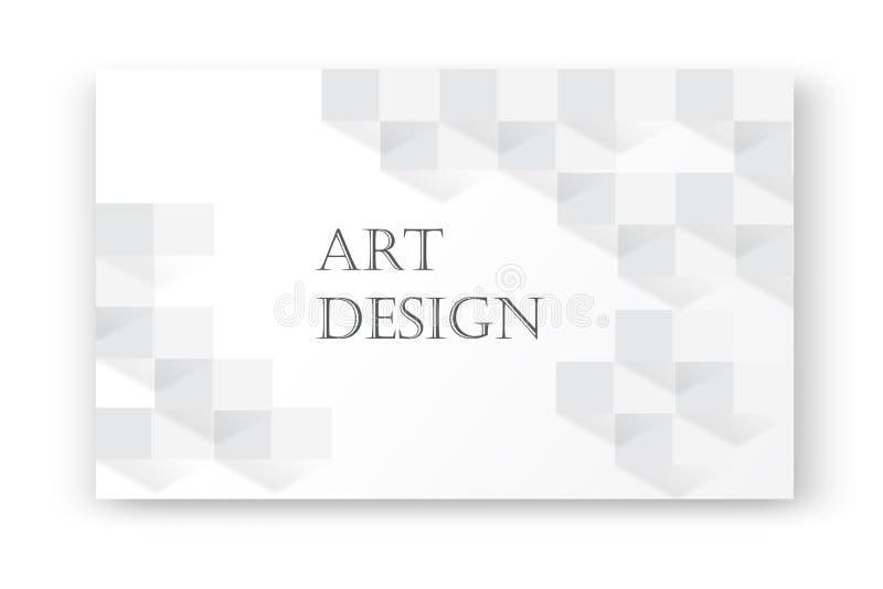 Fundo branco abstrato com textura da sombra do tijolo Contexto geométrico branco do vetor 3d Textura branca limpa simples ilustração do vetor