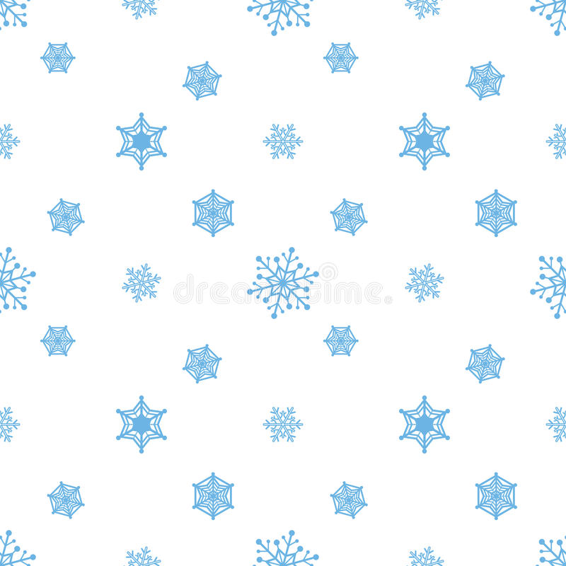 Fundo branco azul do floco de neve ilustração stock
