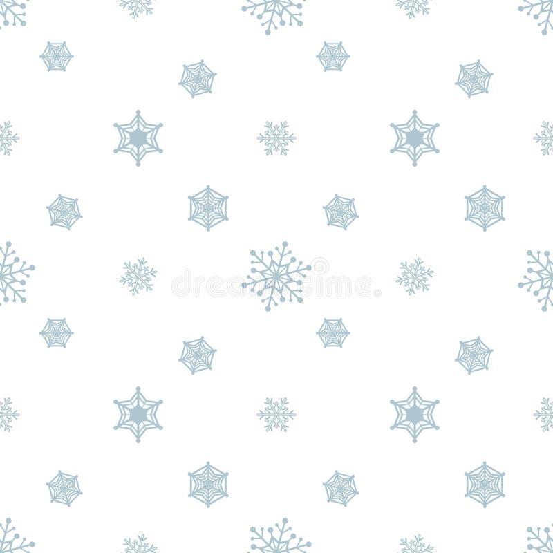 Fundo branco azul pastel do floco de neve ilustração royalty free