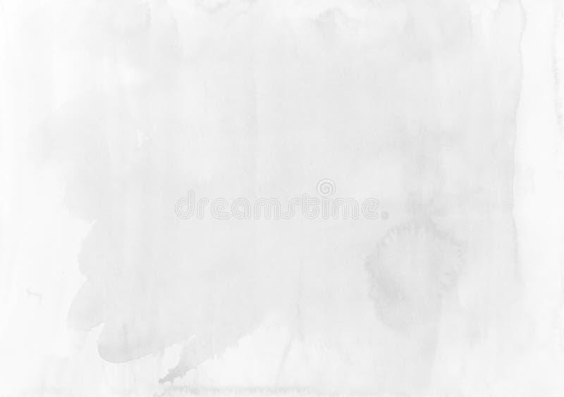 Fundo branco-cinzento abstrato da aquarela Textura Projeto Eleme fotos de stock