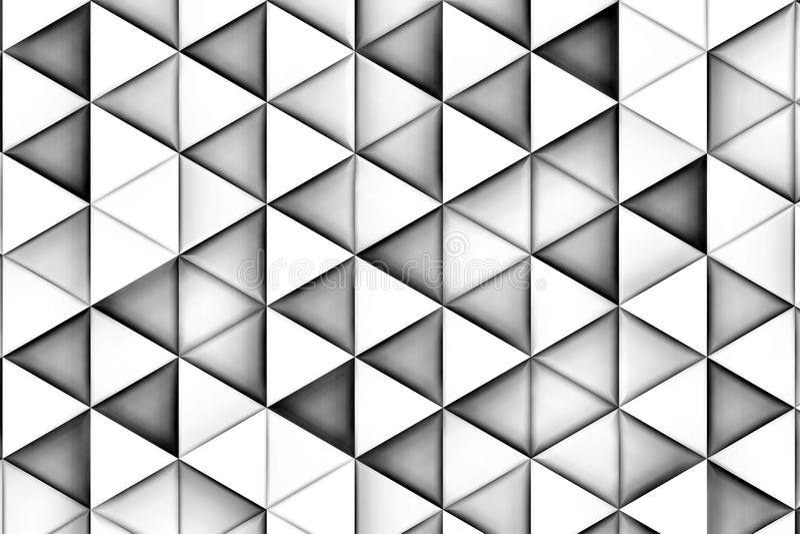 Fundo branco com triângulos e sombras brancos foto de stock