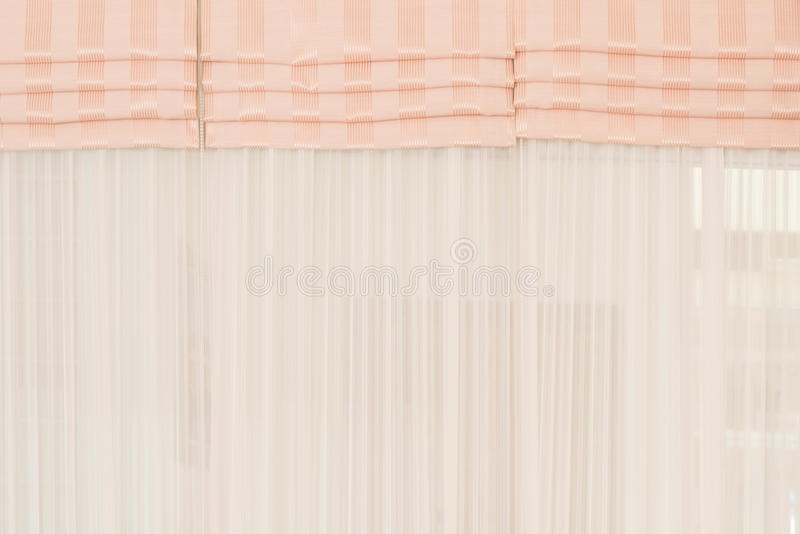 Fundo branco da cortina da tela fotos de stock