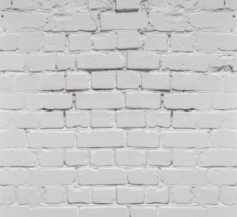 Fundo branco da parede de tijolo na sala rural, imagens de stock royalty free