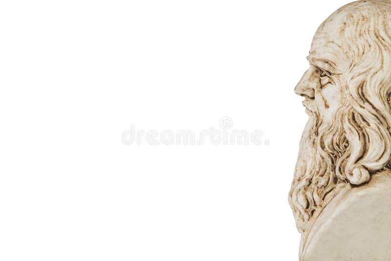 Fundo branco da perspectiva de Leonardo da Vinci imagens de stock