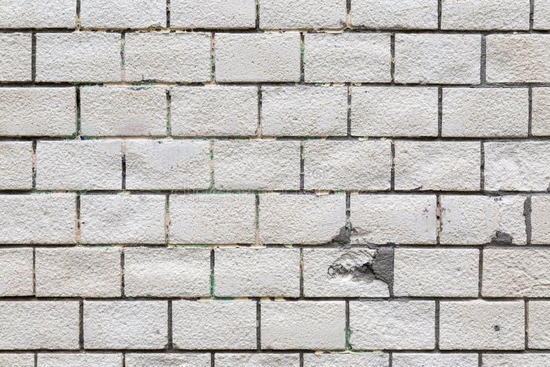 Fundo branco da textura da parede de tijolo imagens de stock royalty free