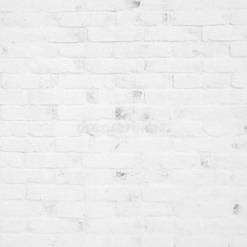 Fundo branco da textura da parede de tijolo, fundo do design de interiores, fotografia de stock