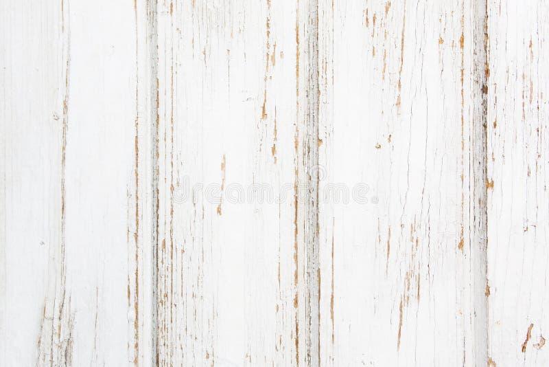 Fundo branco da textura da prancha velha de madeira fotografia de stock royalty free