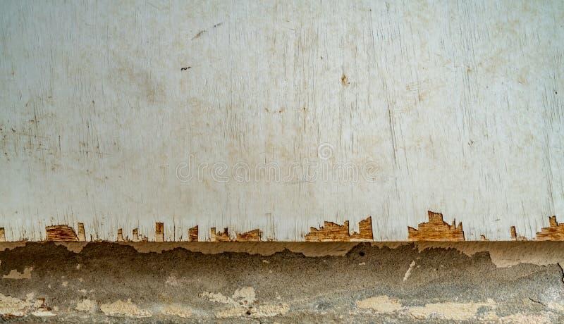 Fundo branco da textura da madeira compensada imagens de stock