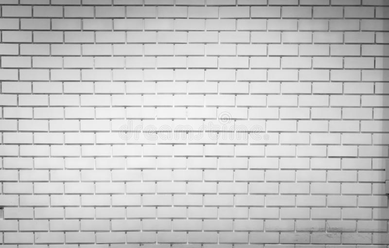 Fundo branco da textura da parede de tijolo com espa?o para o texto Papel de parede branco do tijolo Decora??o interior home Conc fotografia de stock royalty free