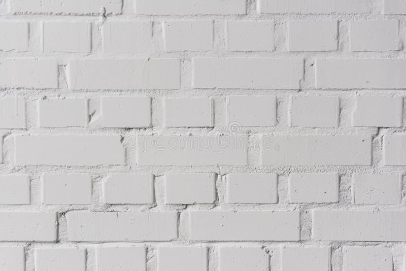 Fundo branco da textura da parede de tijolos foto de stock royalty free