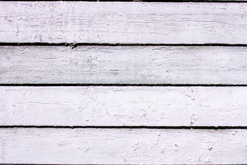 Fundo branco de madeira, tabela ou assoalho do vintage velho imagens de stock royalty free