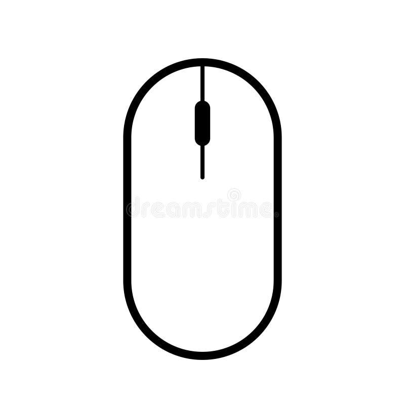 Fundo branco do ícone sem fio moderno do rato do computador ilustração do vetor